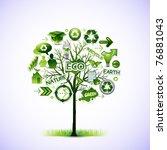 eco tree vector illustration | Shutterstock .eps vector #76881043