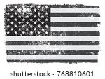 grunge american flag.old... | Shutterstock .eps vector #768810601