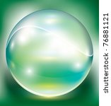crystal sphere  vector... | Shutterstock .eps vector #76881121