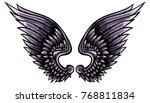 indigo angelic vector wings... | Shutterstock .eps vector #768811834