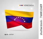 venezuela 3d style glowing flag ...   Shutterstock .eps vector #768812689