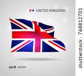 united kingdom 3d style glowing ...   Shutterstock .eps vector #768812701