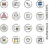 line vector icon set   sign... | Shutterstock .eps vector #768815491