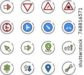line vector icon set   right... | Shutterstock .eps vector #768816571