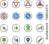 line vector icon set   right... | Shutterstock .eps vector #768816571