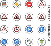 line vector icon set   sign... | Shutterstock .eps vector #768816769