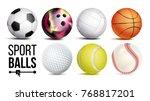 sport balls vector. realistic....