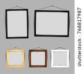 wooden frame gallery set... | Shutterstock .eps vector #768817987