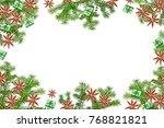 festive christmas tree... | Shutterstock . vector #768821821
