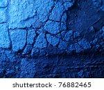 Old Cracked Asphalt Blue...