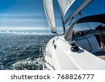 sailing on a sailing yacht on... | Shutterstock . vector #768826777