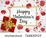 valentines day greeting card... | Shutterstock .eps vector #768830929
