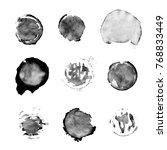stains of a dark liquid. coffee ... | Shutterstock . vector #768833449