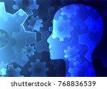 creative brain concept... | Shutterstock .eps vector #768836539