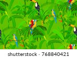 seamless pattern with birds in... | Shutterstock .eps vector #768840421