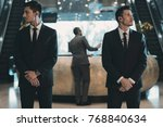 two bodyguards waiting for... | Shutterstock . vector #768840634