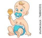 toddler character. cartoon baby ...   Shutterstock .eps vector #768843331