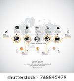 business infographic layout | Shutterstock .eps vector #768845479