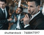 security guard talking by... | Shutterstock . vector #768847597