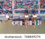container container ship in... | Shutterstock . vector #768849274