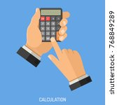 calculation and counting... | Shutterstock .eps vector #768849289