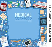 medical services banner and... | Shutterstock .eps vector #768849454