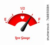 love gauge. valentine's day... | Shutterstock .eps vector #768850084