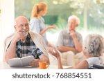 senior man enjoying time while...   Shutterstock . vector #768854551