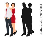 guy and girl without a face ... | Shutterstock .eps vector #768855061