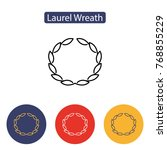 laurel wreath icon isolated on... | Shutterstock .eps vector #768855229