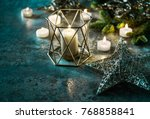 candles and stars. christmas... | Shutterstock . vector #768858841