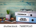 online survey and feedback.... | Shutterstock . vector #768859165