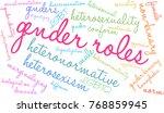 gender roles word cloud on a... | Shutterstock .eps vector #768859945