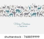 merry christmas and happy new... | Shutterstock .eps vector #768859999