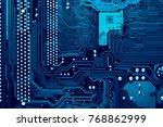 circuit board. electronic... | Shutterstock . vector #768862999