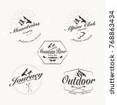 set of retro vintage vector... | Shutterstock .eps vector #768863434