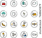 line vector icon set  ... | Shutterstock .eps vector #768865879