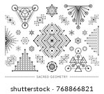 sacred geometry style symbol... | Shutterstock .eps vector #768866821