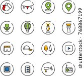 line vector icon set   gloves... | Shutterstock .eps vector #768867199