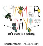 summer patch and slogan   Shutterstock .eps vector #768871684
