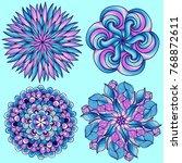 mandalas. colored mandala set. ... | Shutterstock . vector #768872611