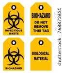 biohazard symbol sign of... | Shutterstock . vector #768872635