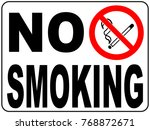 no smoking sign with text and... | Shutterstock . vector #768872671