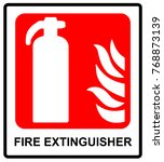 fire extinguisher sign | Shutterstock . vector #768873139