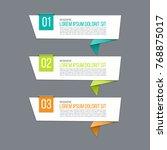business infographics. creative ...   Shutterstock .eps vector #768875017