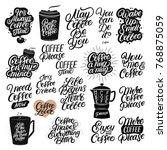 set of 20 hand drawn lettering... | Shutterstock .eps vector #768875059