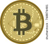bitcoin isolated on white... | Shutterstock .eps vector #768876481