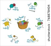 collection of 7 labels with... | Shutterstock .eps vector #768878404