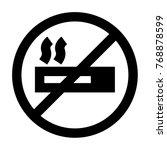 no smoking icon vector | Shutterstock .eps vector #768878599