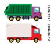trucks. vector flat style... | Shutterstock .eps vector #768878959